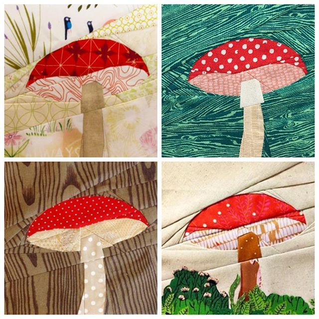 Mushrooms Any Color Lace Applique for Crafts or Crazy Quilt