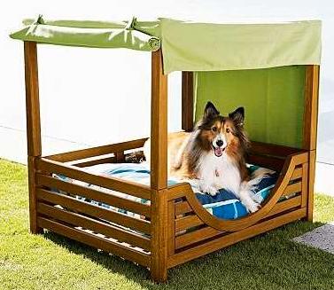 Doggie Backyard Kennel Ideas Diy Dog Canopy Bed Outdoor Dog Bed Dog Bed