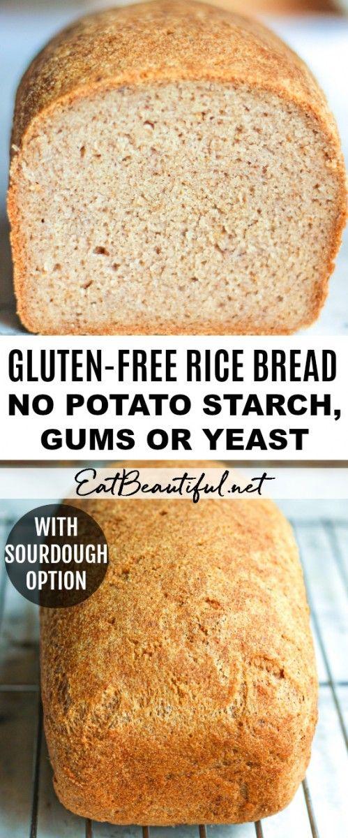 Easy Glutenfree Rice Bread (No potato, gums or yeast
