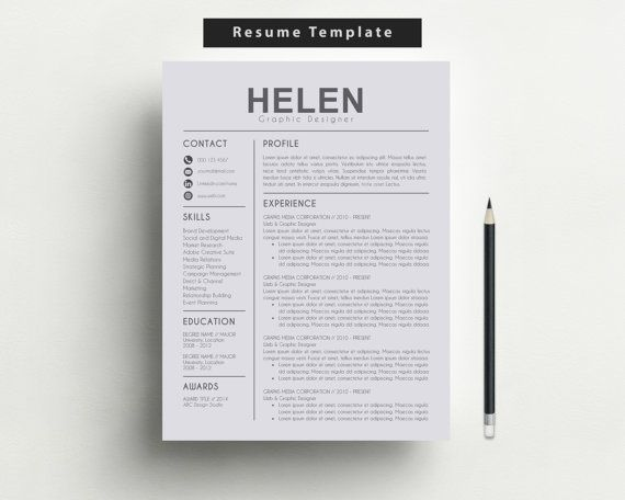Modern Resume Template CV Template + Cover Letter + Reference