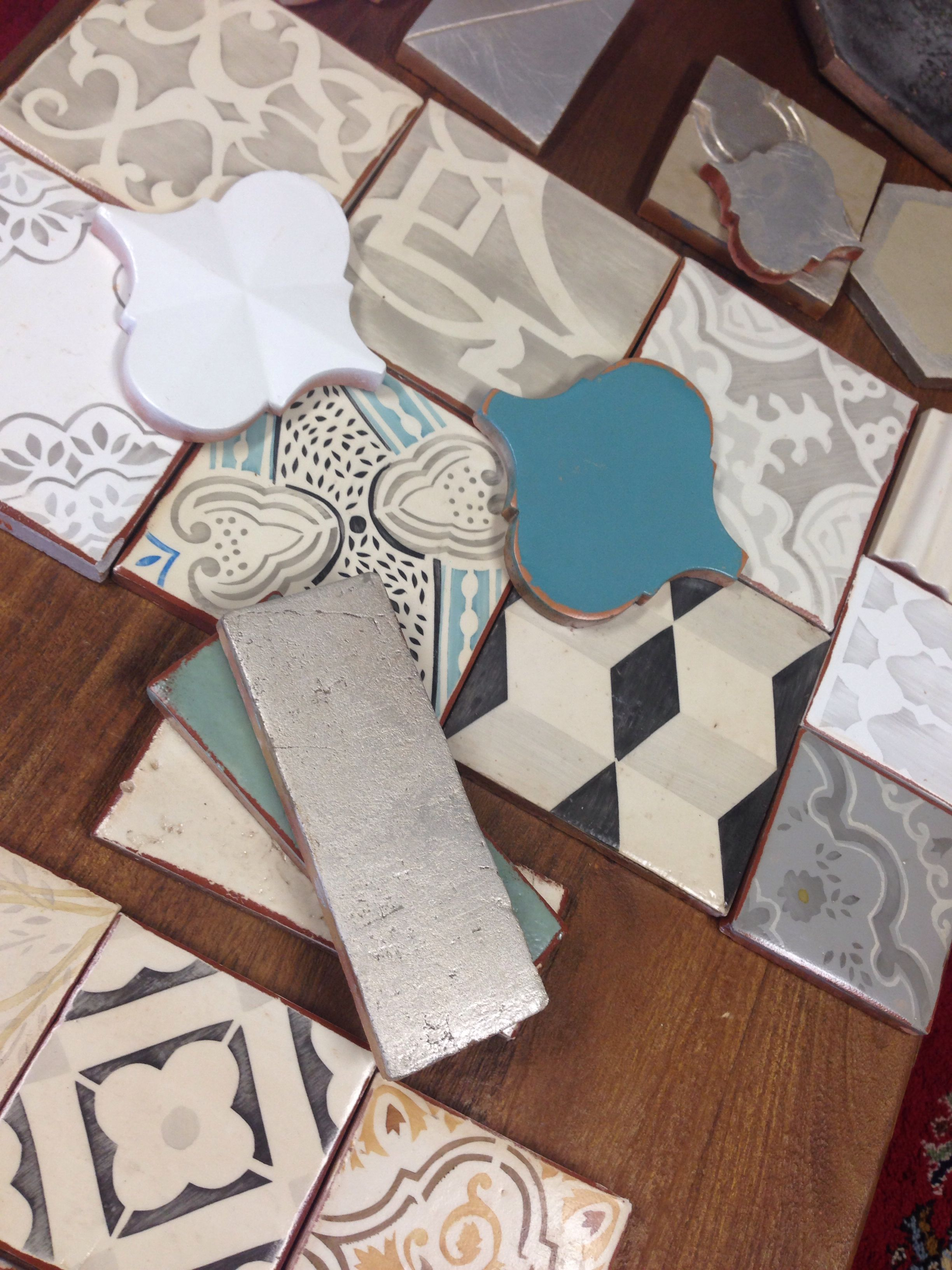 an array of samples over keryl's desk. | tabarka home | pinterest, Hause ideen