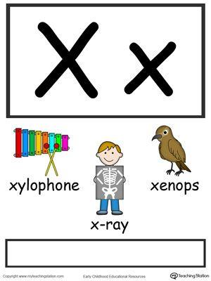 Letter X Alphabet Flash Cards For Preschoolers Alphabet Flashcards Kindergarten Letters Alphabet Worksheets Preschool