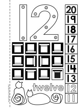 Dot-to-Dot Number Book 11-20 Activity Coloring Pages ...