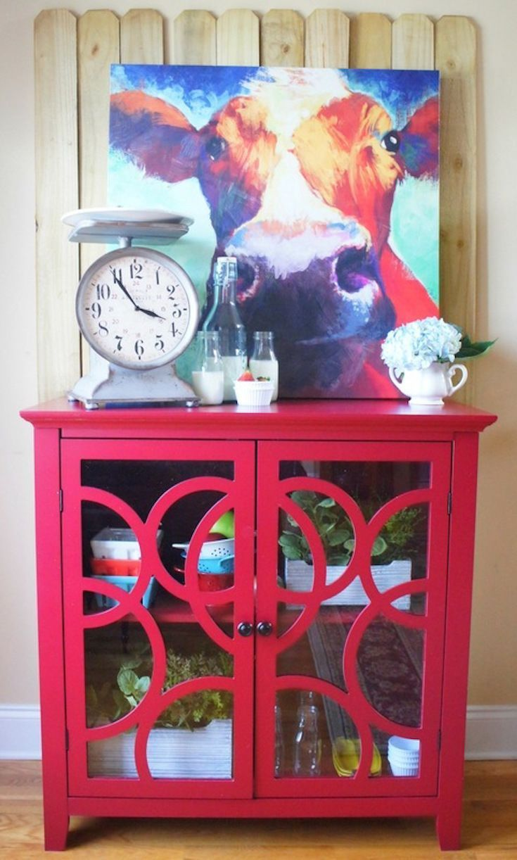Styling a bold accent piece with fun colors