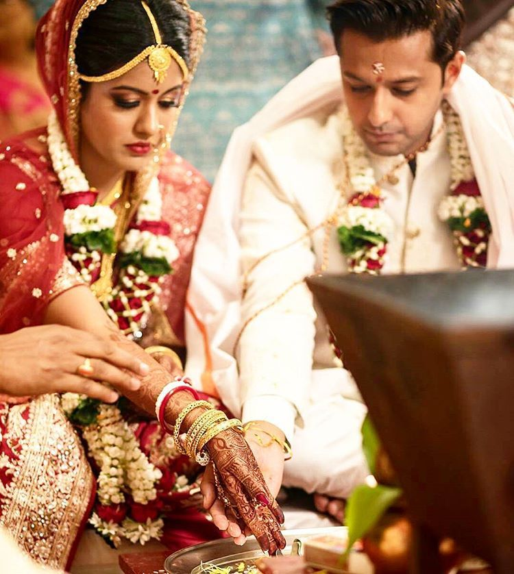 Vatsal Sheth and Ishita Dutta After tying the knot in a