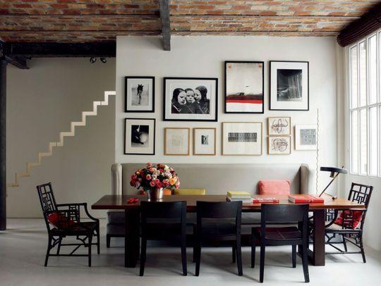 D coration salle manger 6 photos pour s 39 inspirer la for Table de salle a manger contre un mur