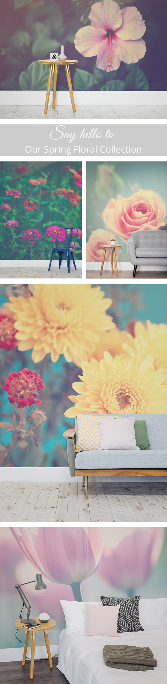 Introducing Our Spring Floral Collection   { WALL } Decorations ...