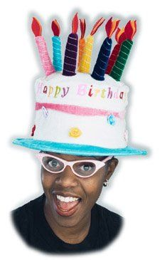 Adults Birthday Cake Costume Hat
