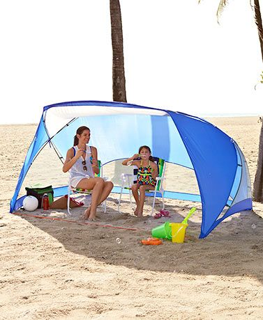 Stay protected from the elements and enjoy some privacy outdoors with an Easy-Up x Sun Shade Beach Canopy Tents. The portable shade is easy to set up  sc 1 st  Pinterest & This Easy-Up 9u0027 x 6u0027 Sun Shade guards you against bad weather. The ...