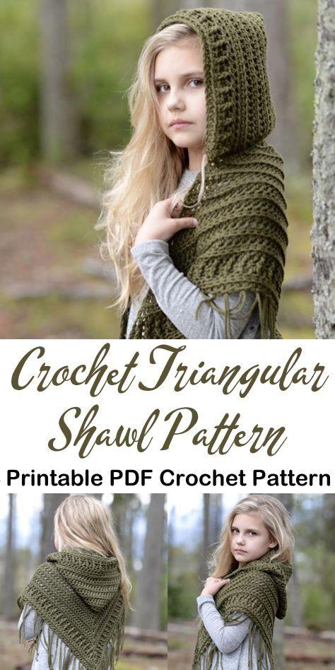 crochet triangular shawl pattern- scarf crochet pattern -crochet pray shawl pattern pdf -wrap - amor #ponchoscrochet