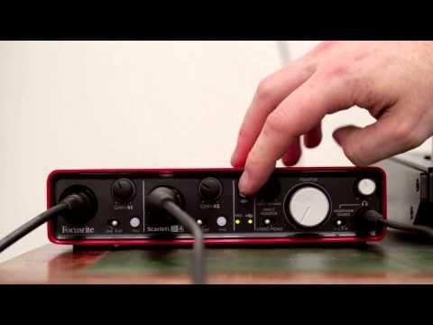 Focusrite // Scarlett 2i4 audio interface tutorial - YouTube