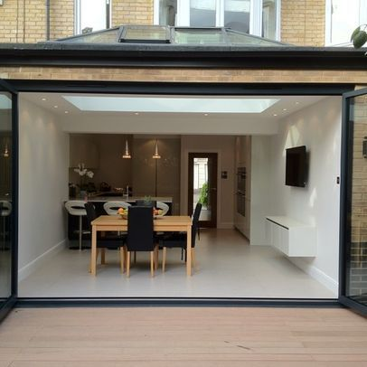 Folding Doors Rooflight For Flat Roof Room Extensions Flat Roof Extension Country House Floor Plan