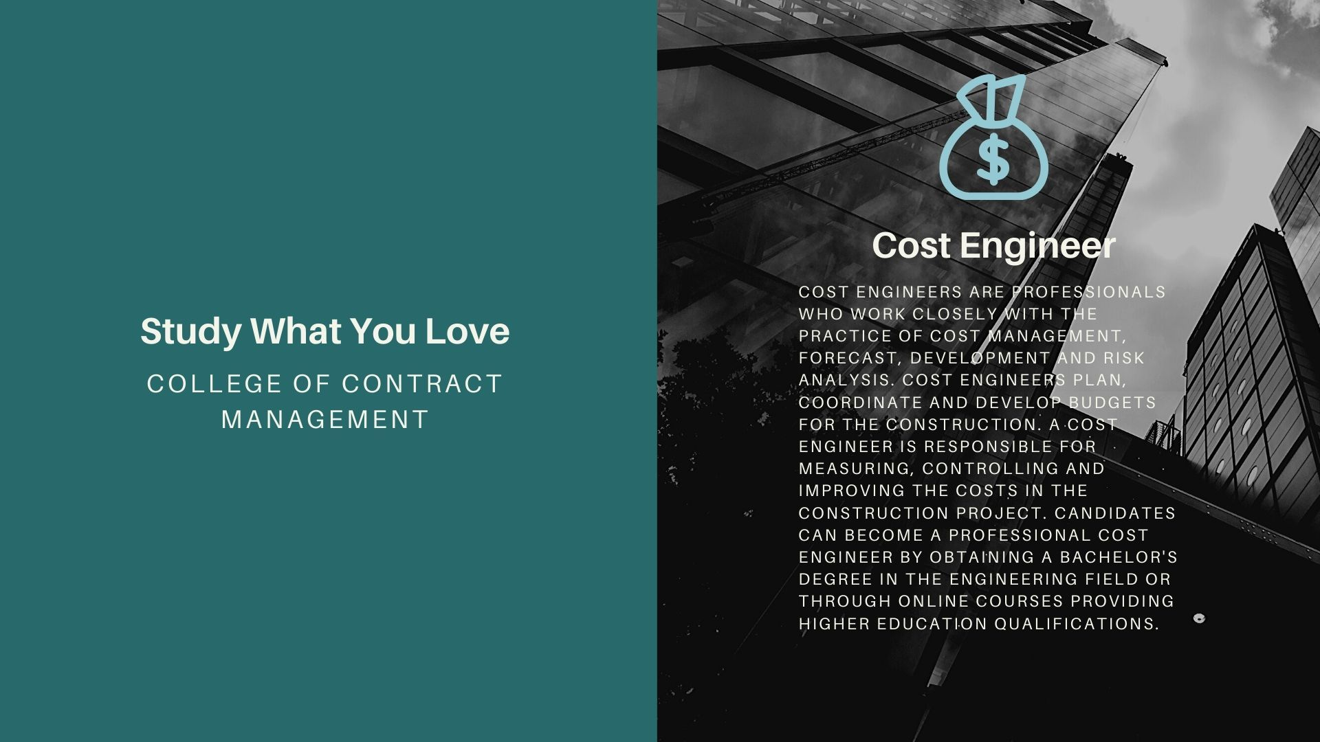 Cost Engineer In 2020 Contract Management Engineering Colleges Online Courses