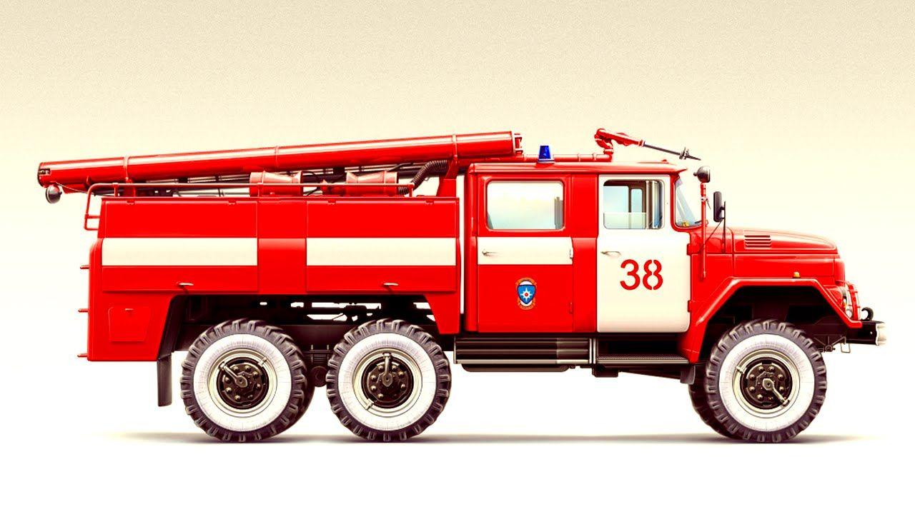синее пожарная машина фото рисунок популярный вариант доехать