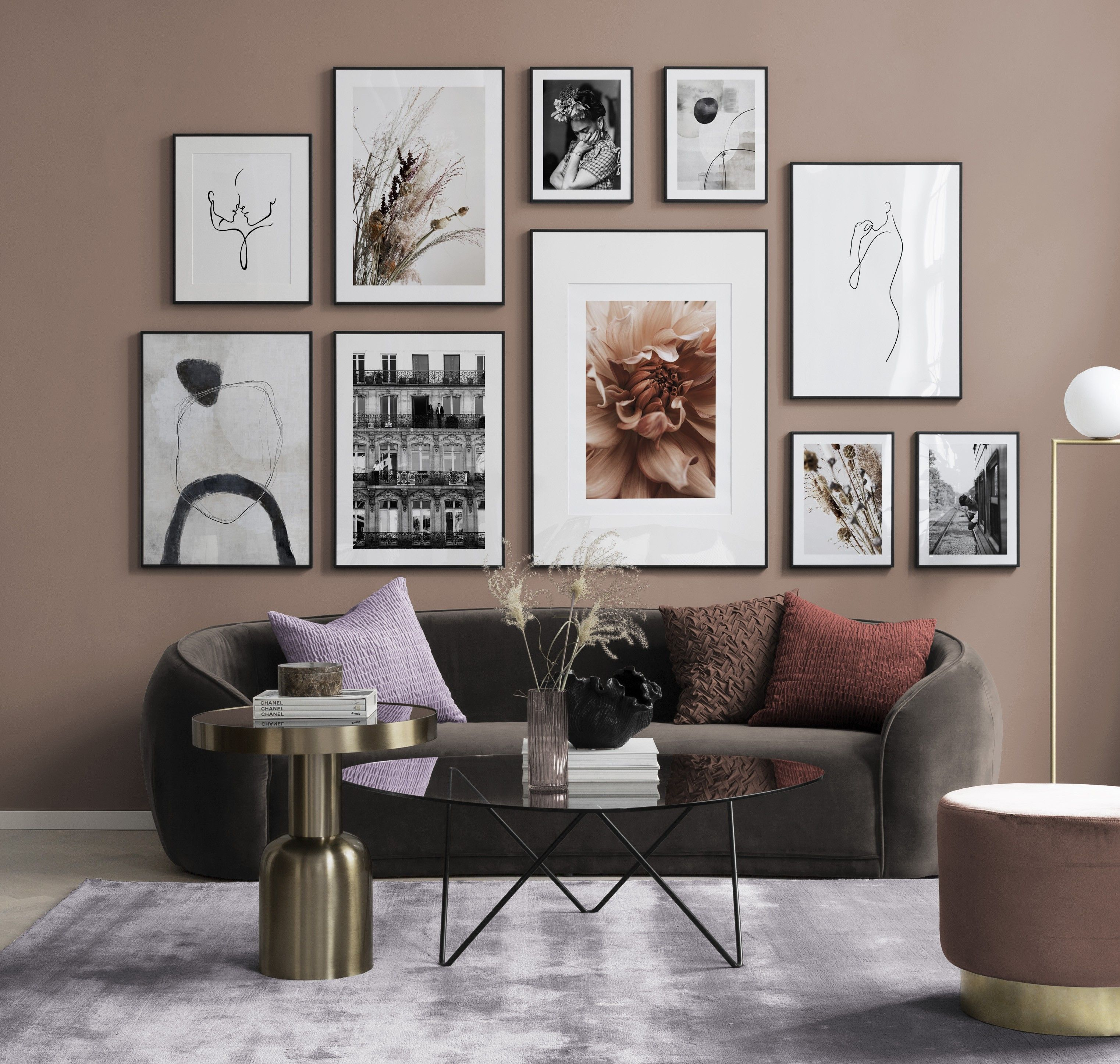Photo of Peach Perfect gallery wall