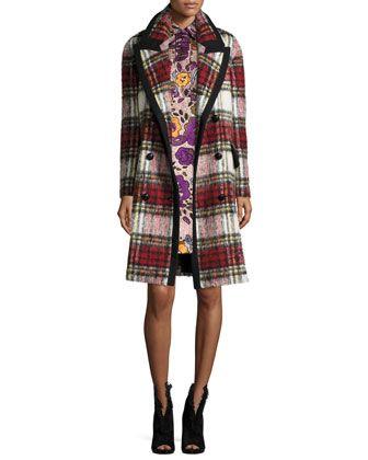 acf8514298 Plaid Wool/Mohair-Blend Coat Elderberry | Interesting clothing ...