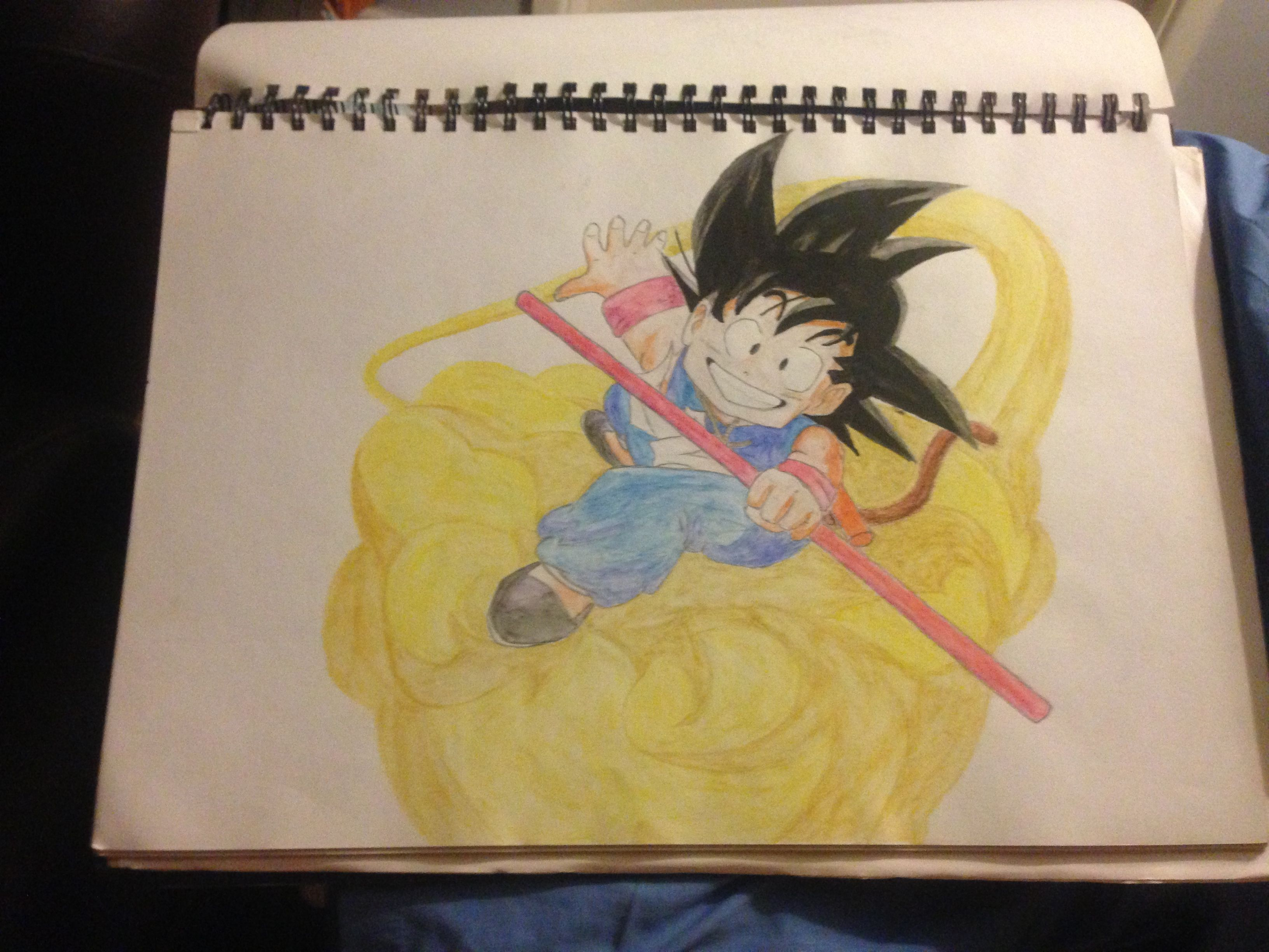 This is a photo of Trust Goku On Nimbus Drawing