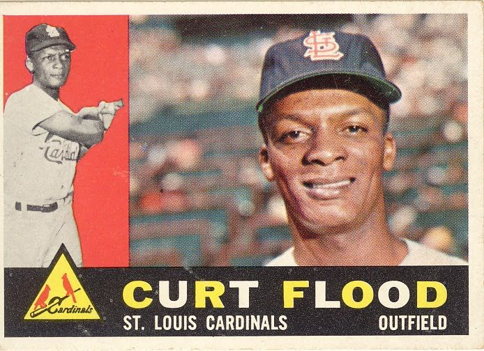 Curt Flood Pioneer Baseball Hall Of Wayne Baseball