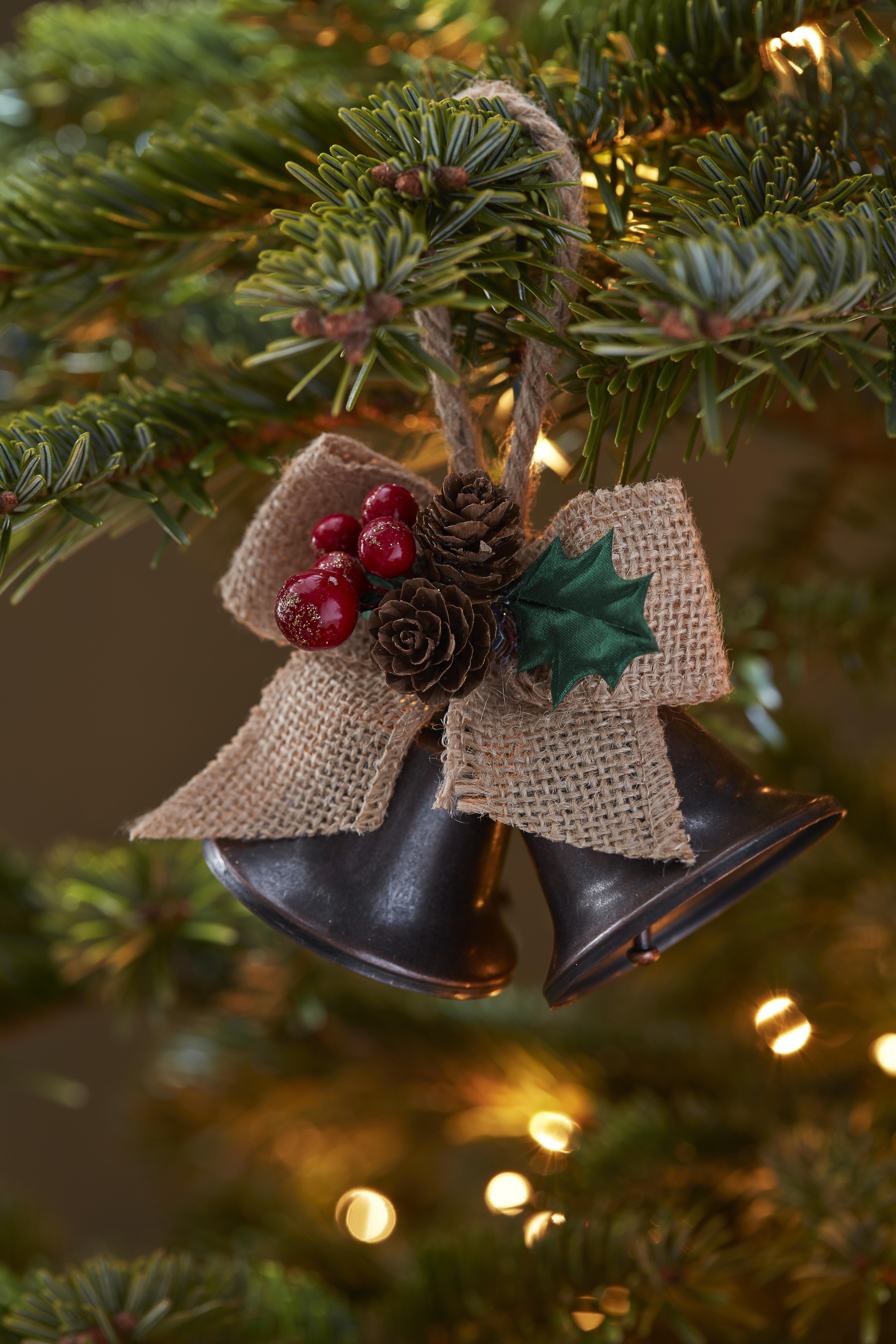 Bell Decor If You Love A Vintage Festive Look Our Hessian Bell Decoration