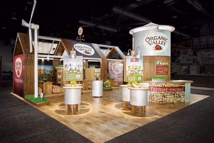 Food Exhibition Stand Design : Organic valley trade show booth ideas pinterest food