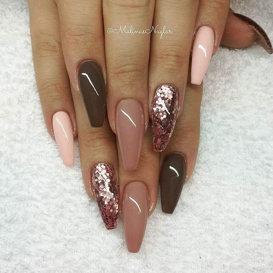 56 Fall Acrylic Nail Colors To Try This Year Koees Blog Fall Acrylic Nails November Nails Long Acrylic Nails