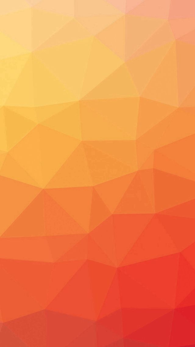 Red And Yellow Polygon Pattern IPhone 5s Wallpaper