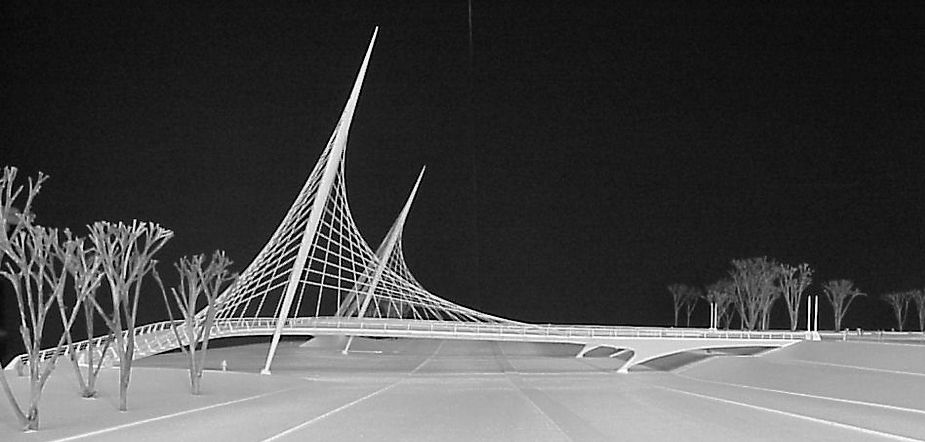 Chicago's never-built Queen's Landing Bridge by Santiago Calatrava