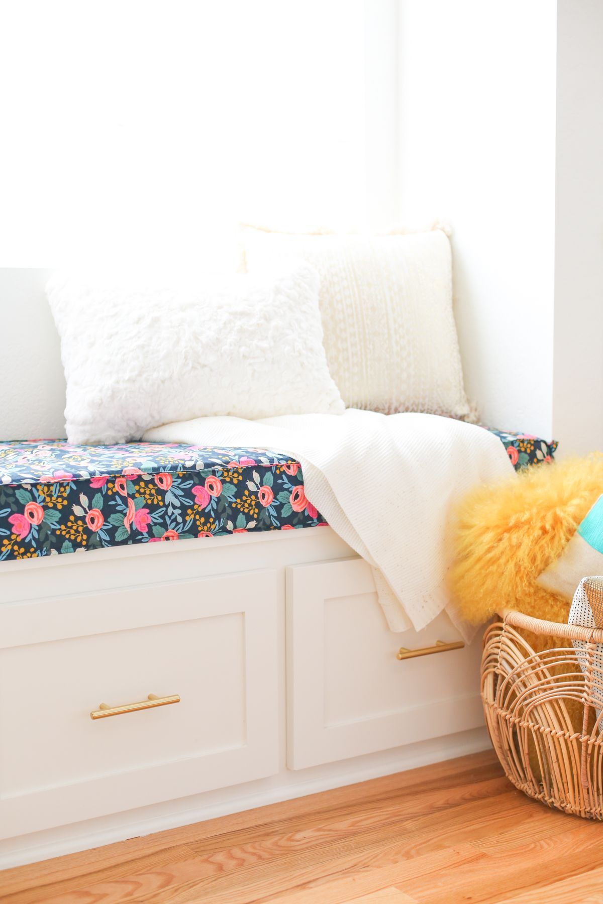 Outfitting a windowseat our favorite window coverings and a diy