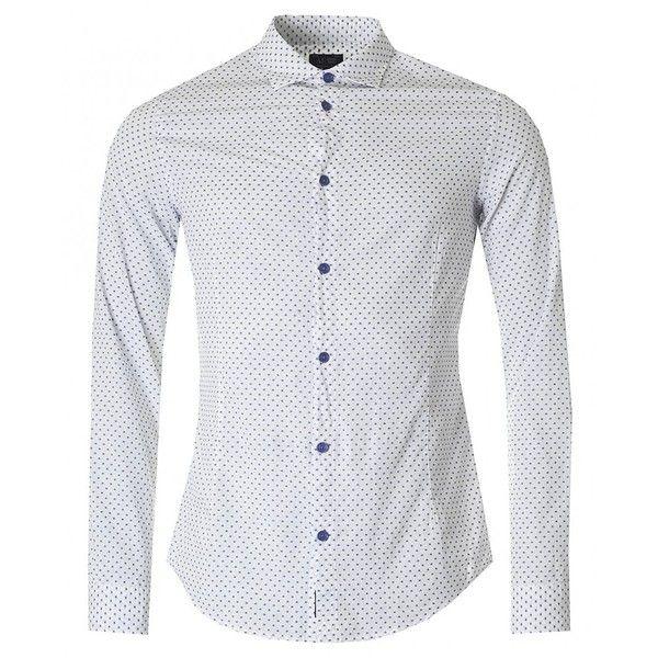 Armani Jeans Slim Fit Fastasia Patterned Shirt (680 PEN) ❤ liked ...