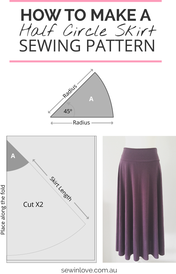 How to Make a Skirt in One Day: Easy Half Circle Skirt | Costura ...