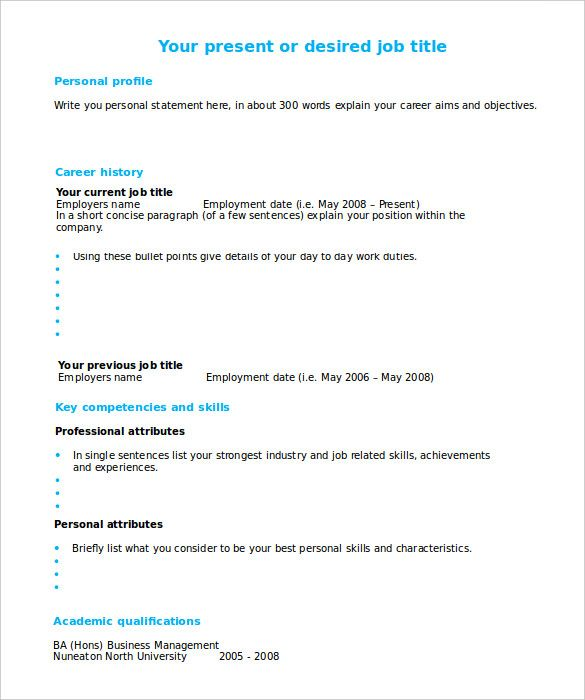 Resume Templates You Can Fill In , #ResumeTemplates