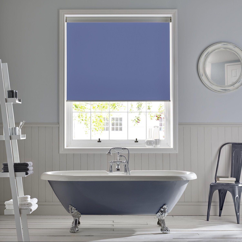 Apollo Blinds Palette Marina Bathroom Roller Blind Blue Blinds Bathroom Blinds Contemporary Bathroom Blue Roller Blinds Roller Blinds Modern Window Dressing