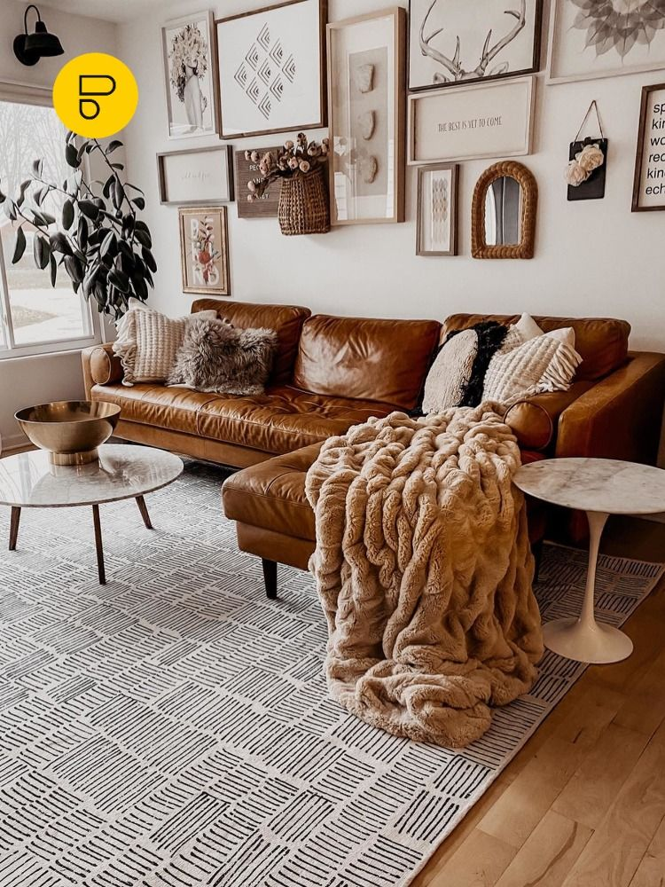 Cognac Tan Leather Sofas Ideas For A Mid Century Modern Living Room Tan Living Room Leather Sofa Living Room Living Room Leather