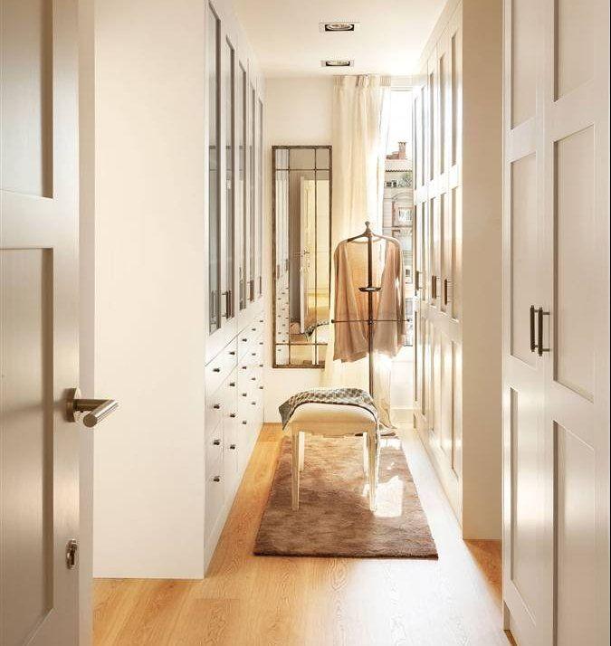 Buenas ideas para espacios compartidos frentes de for Closet blanco pequeno