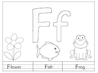 تعليم الاطفال الانجليزيه بسهوله و أوراق عمل Letter F Flowers Diagram Art