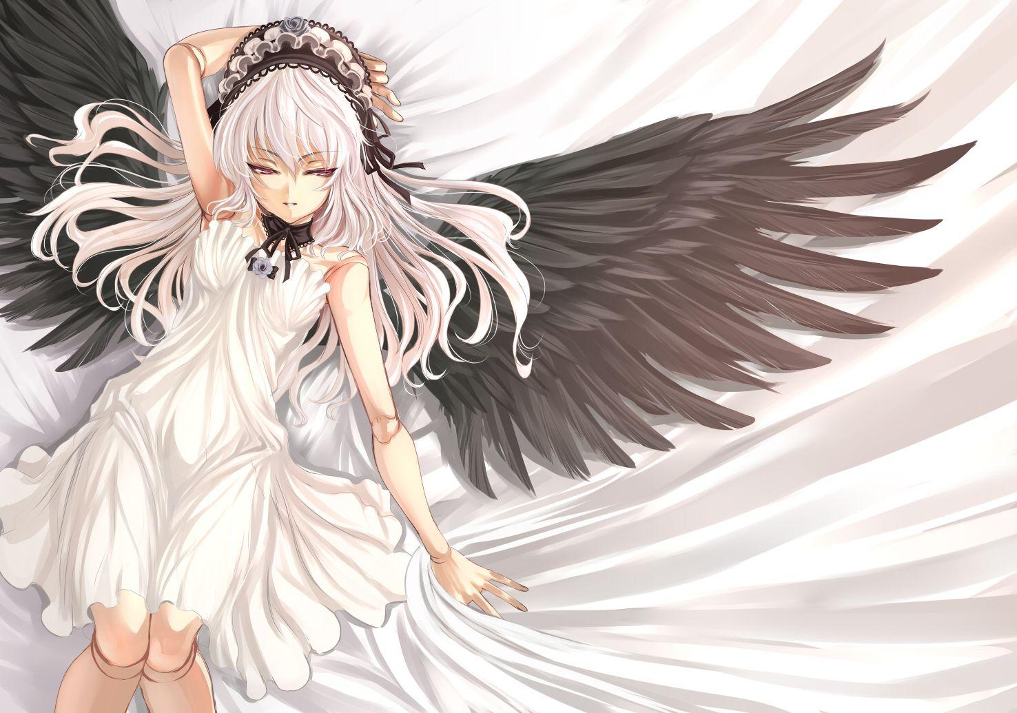 Аниме картинка девушка-ангел