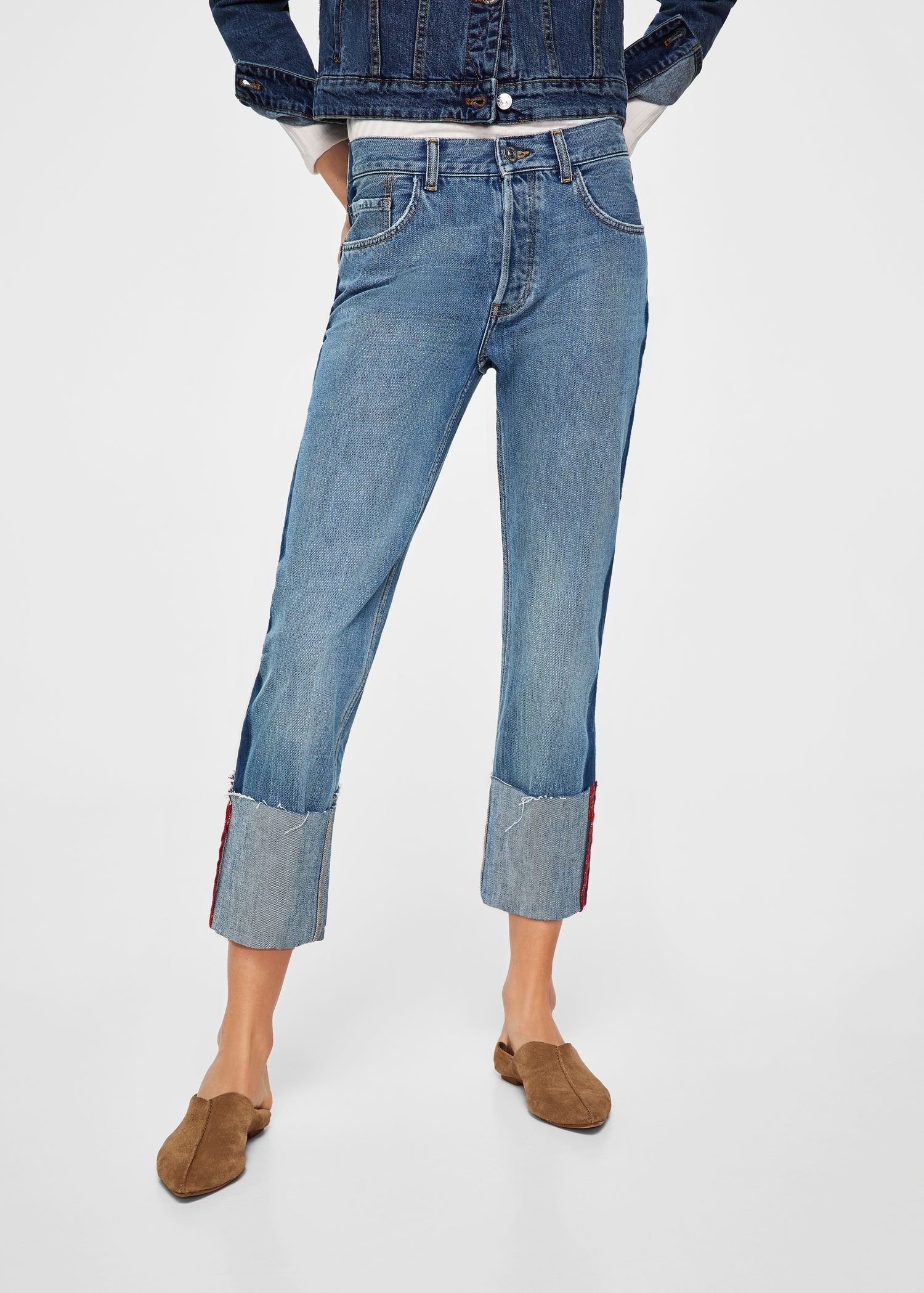 96cce01386 Turn-up hem straight jeans - Women | Fall/Winter 18' | Jeans, Cuffed ...