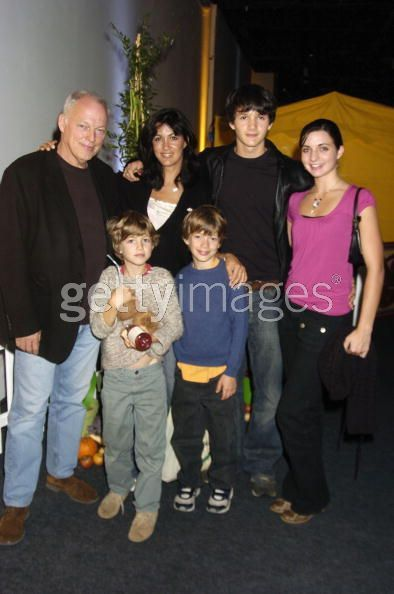 David Gilmour and Wife Polly Samson with Family