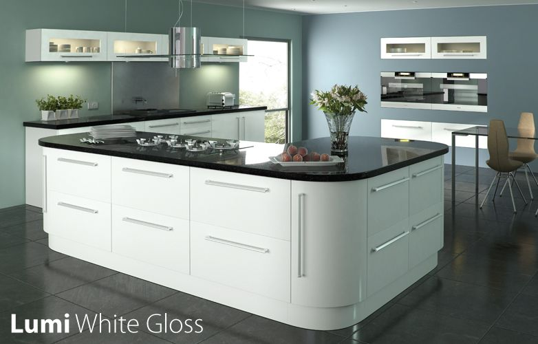 white gloss kitchen black worktop - Google Search | mutfak ... on black with white drawers, black with white kitchen floor, black with white doors,