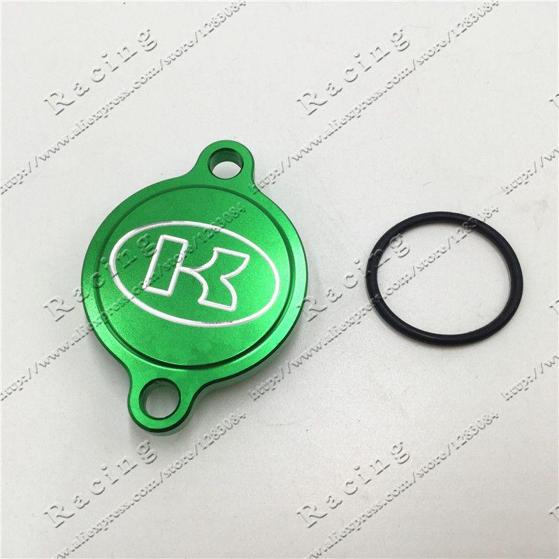 Green Cnc Billet Oil Filter Cover For Kawasaki Kx250f Kx 250f Kxf250