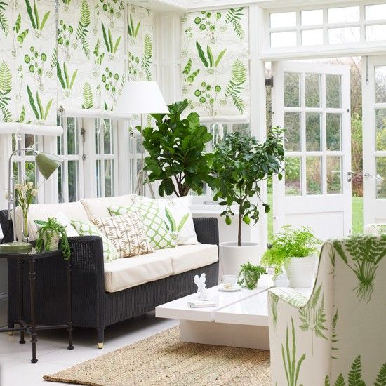 Decorating with green | Conservatories, Decorating and Room ideas