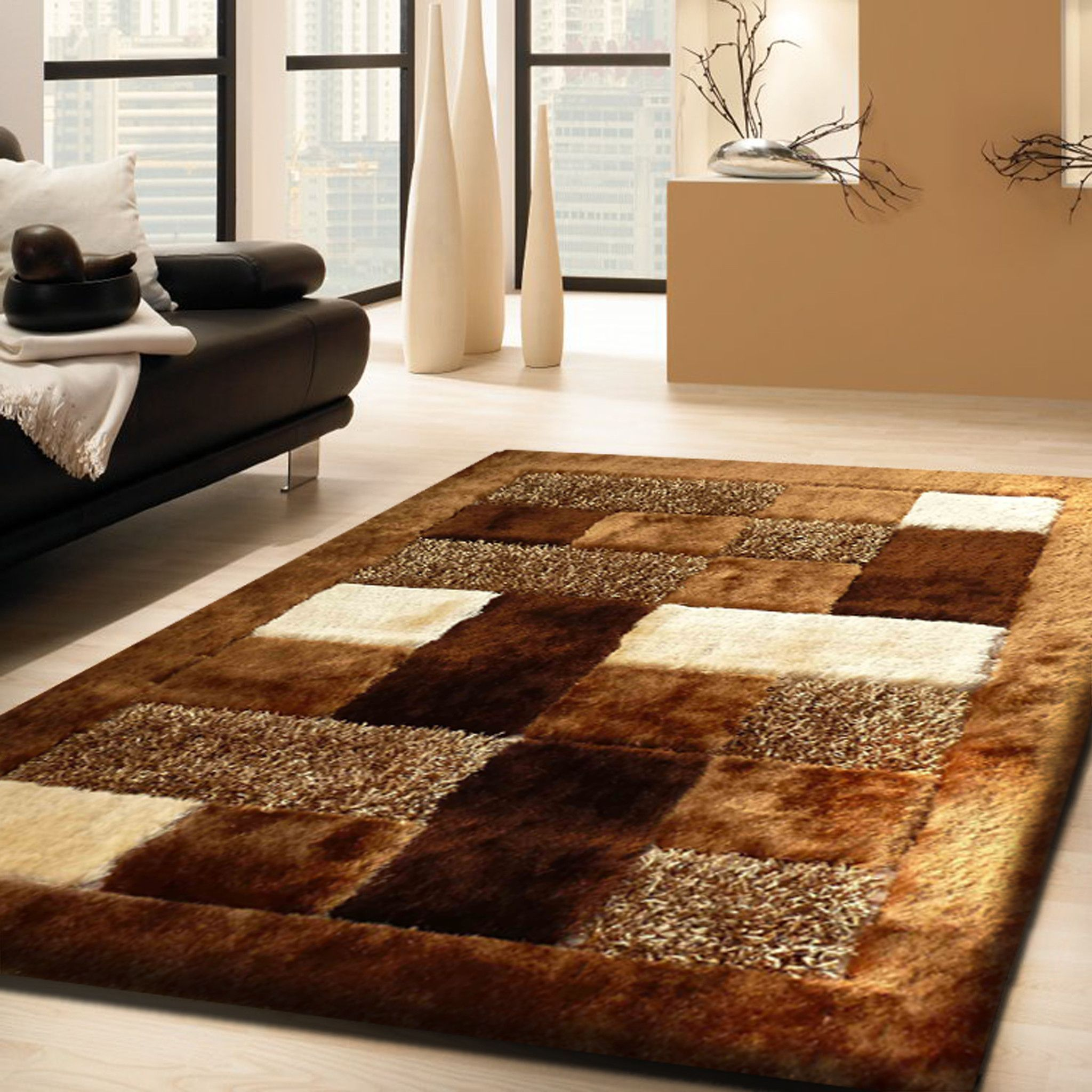 lavish pile room home high shag amazon com dp rug living rugs fluffy carpet dining for kitchen burgundy