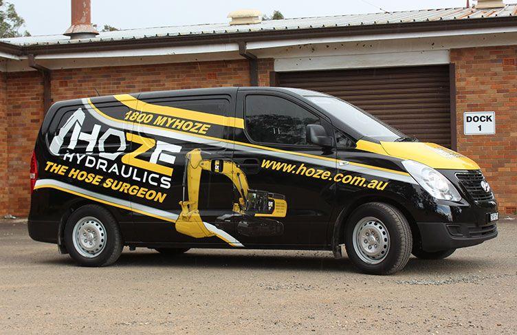Hydraulic Hose Repair | Hydraulic Repair Service | Car wrap, Logo