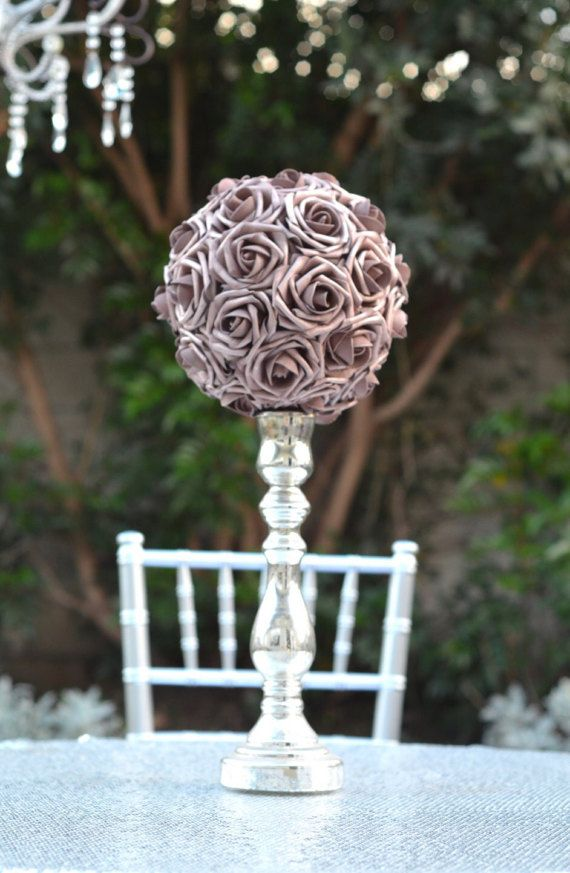 Rose Gold Flower Ball Rose Gold Wedding Rose Gold Pomander Rose