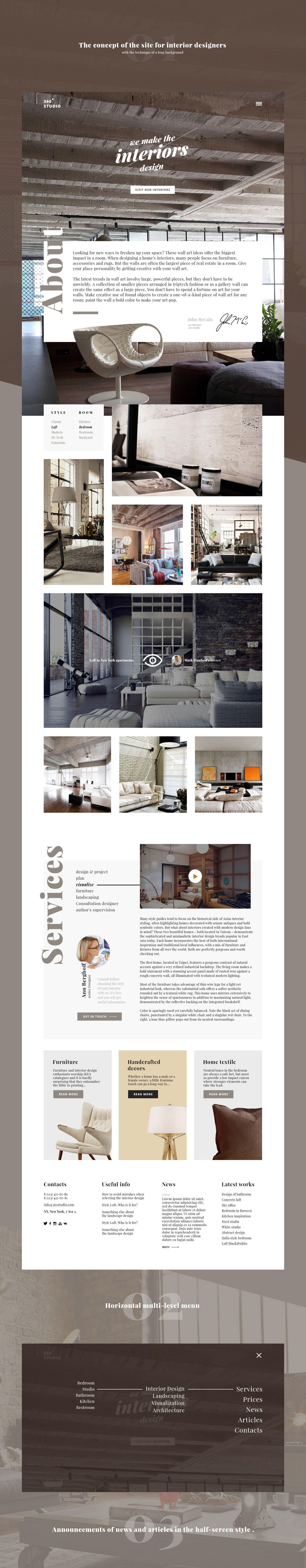 Website Concept For Interior Design