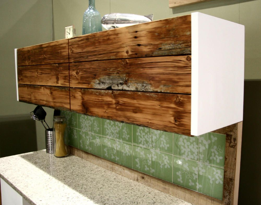 Beautiful Materials: 30u2033 Akurum Horizontal Wall Cabinet, Reclaimed Douglas Fir, MDF  Panels Description