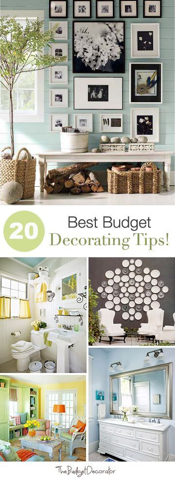 20 Best Budget Decorating Tips! oh my goodness... so cute @Marty McPadden McPadden Widdoes budget friendly home deocr #homedecor #decor #diy