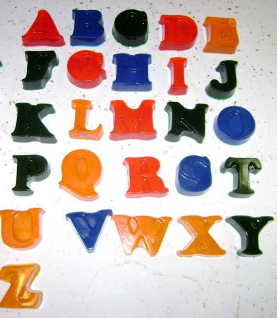 Handmade Alphabet Glycerin Soaps by MysticCreationsSoaps on Etsy, $12.00