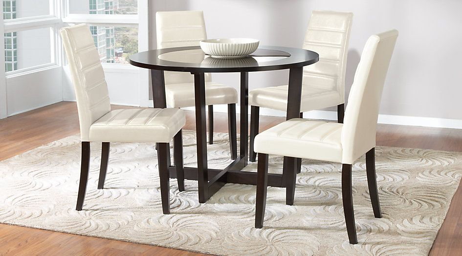 Picture Of Mabry Espresso 5 Pc Dining Set From Furniture  Ideal Mesmerizing Espresso Dining Room Sets Review