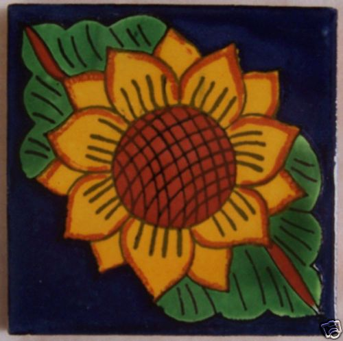 "12 Clay Decorative Talavera 4x4"" Mexican Tile C045 | eBay"